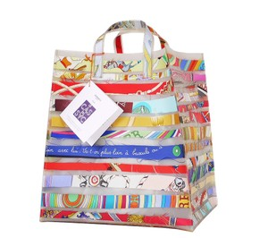 Hermès Satchel Rare Limited Edition Handbag Tote in Multicolor,Blue,Red,Yellow,Pink,Green,White,Orange
