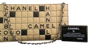Chanel Wristlet in Tan Black