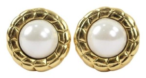 Chanel Pearl Medallion Earrings