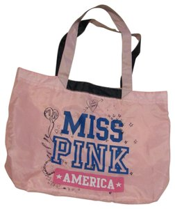 PINK Beach Overnight Workout Tote in pink