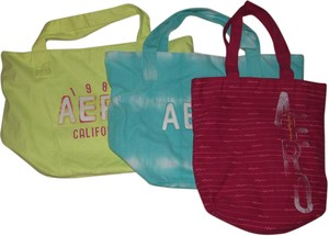 Aéropostale Beach Tote in yellow, aqua, pink