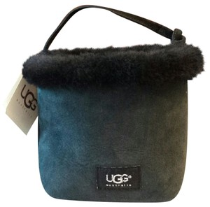 UGG Australia Ugg Mini Sheepskin Suede Ugg Tote in Black