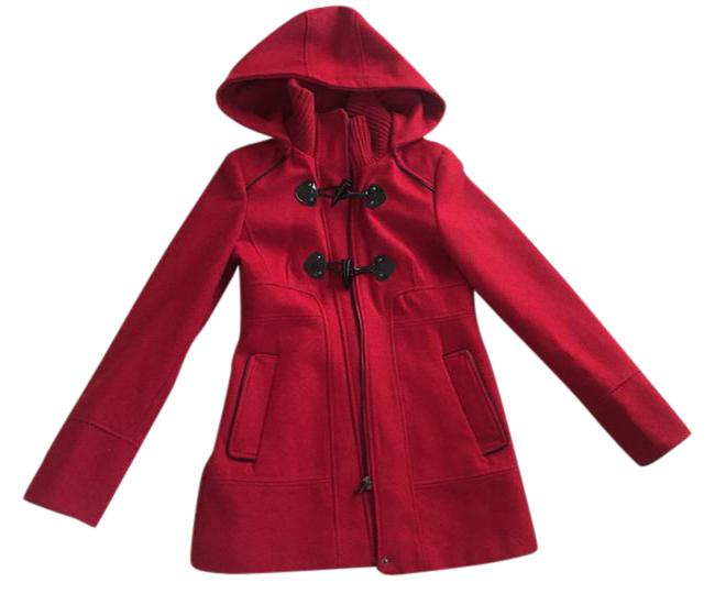 b213d1008af7 0 0 Toggle Guess Wool Tradesy Tradesy Red XXS with Size Hood Petite Coat  w8CRZ8
