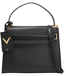 Valentino Rockstud Studded Leather Tote in black