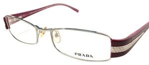Prada Prada Eyeglasses Silver Cherry with Crystals Frame