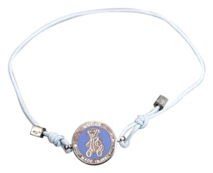 Gucci Gucci Sterling Silver Teddy Bear Bracelet, Light Blue 272873 1281