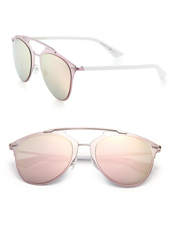 230f40c0fb9 Dior Reflected 52MM Mirror Aviator Sunglasses Pink White Pink Mirror Image  0 ...