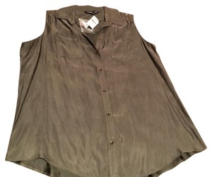 Express Button Down Shirt olive/military green