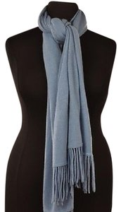 Ann Taylor Ann Taylor Womens Blue Scarf One Cashmere Casual Fringe
