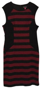 Vince Camuto Body Con Fitted Bold Stripe Dress