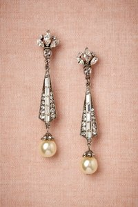 BHLDN Silver/Pearl Spire From Earrings