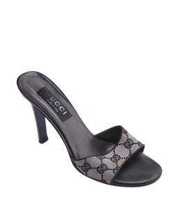 Gucci Mules Heels Black,Grey Sandals
