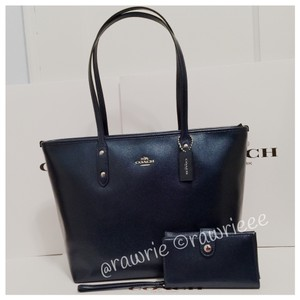 Coach Set Matching Set Tote in blue