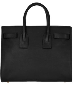 Saint Laurent Ysl Leather Tote in black