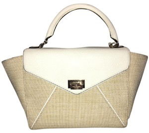 Kate Spade Satchel in Cream and Tan