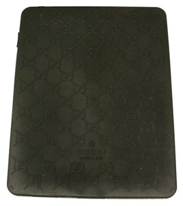 Gucci GUCCI GG Monogram iPad Case cover Black Rubber for iPad 1-4th gen