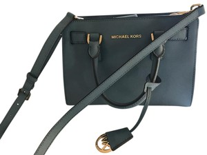 Michael Kors Leather Satchel in Indigo