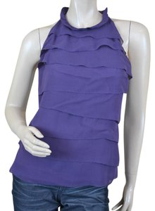 Vince Silk Tiers Top Purple