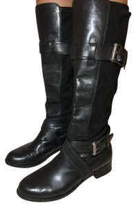 Cole Haan Knee High Leather Black Boots