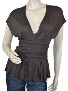 Tracy Reese Open Back Sexy Viscose Top Brown