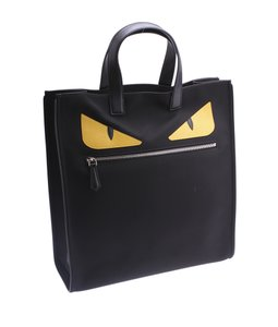 Fendi 7va367 Black & Yellow Tote in Black,Yellow
