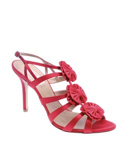 Valentino Satin Heels Red Sandals
