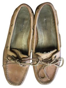 Sperry Boat Shoe Driving Loafer tan Flats