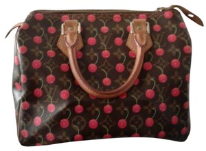Louis Vuitton Monogram Cherries Speedy 25 Satchel in Brown