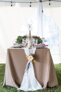 18 Pink & Plum Floral Tiebacks For Table Runners Or Aisle Decor