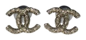 Chanel Chanel CC silver logo earrings
