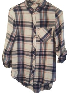 Kenneth Cole Reaction Button Down Shirt Red, white, blue,