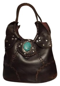 wabags Turquoise Studded Vegan Hobo Bag