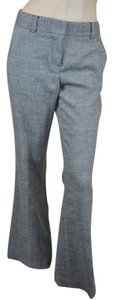 Tory Burch Wool Blend Wide Leg Trouser Pants Gray