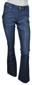 True Religion Corduroy Becky Midrise Boot Cut Pants Purposely Faded Black
