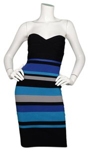 Hervé Leger Bandage Cocktail Strapless Bandage Dress