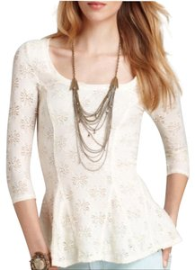 Free People Top cream/ white