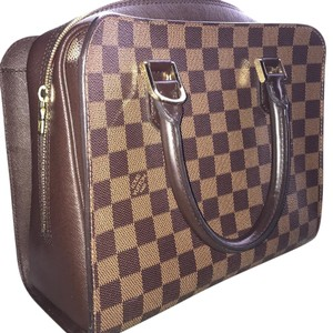 Louis Vuitton Damier Ebene Triana Like New Tote in brown