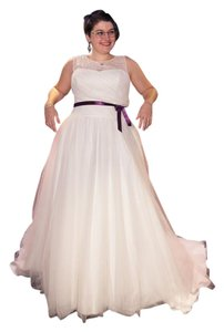 David's Bridal Tulle A-line Wedding Dress