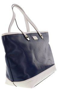 Kate Spade Taren French Navy Leather Tote in FRENCH NAVY/CREAM