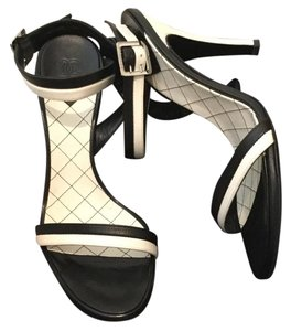 Chanel New With Tags Black Black, White Sandals