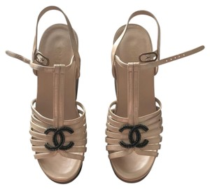 Chanel Nude Wedges
