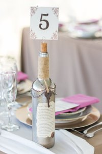 8 Vintage-styled Table Number Holders Or Centerpieces