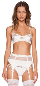 For Love & Lemons Bridal Skivvies Desire satin and lace underwire bra