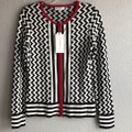 Katherine Barclay Black/White/Red K2813-s365-blkwht Cardigan Size 6 (S) Katherine Barclay Black/White/Red K2813-s365-blkwht Cardigan Size 6 (S) Image 2