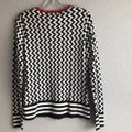 Katherine Barclay Black/White/Red K2813-s365-blkwht Cardigan Size 6 (S) Katherine Barclay Black/White/Red K2813-s365-blkwht Cardigan Size 6 (S) Image 3