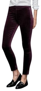 Gap New With Tags Nwt Velvet Eggplant Leggings