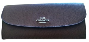 Coach Coach Slim Continental Wallet in Saddle NWT $150.00 RETAIL Classy!