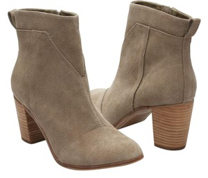 TOMS Lunata Suede Taupe Boots