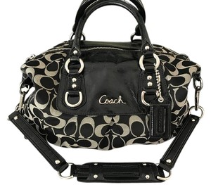 Coach Satchel in Black/Gray