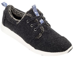 TOMS Del Rey Woo Shearling Charcoal Athletic